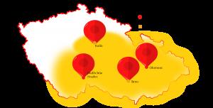Frézování komínů Olomouc, Kolín, Jindřichův Hradec a okolí do 150km